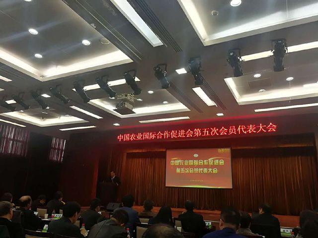 麟源牡丹总经理王连岗参加中国农业国际合作促进会第五届会员大会