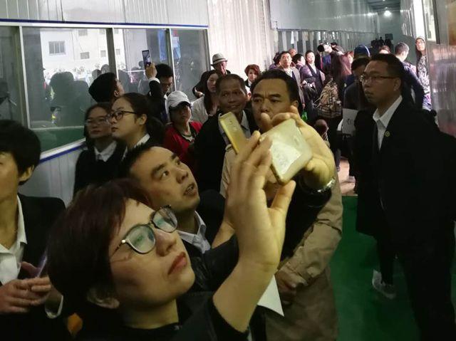 百人组团到临麟源牡丹参观考察 总经理王连岗率众接待解答迷惑