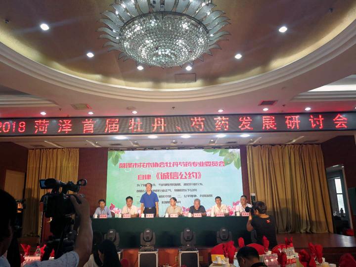麟源牡丹籽油赞助2018菏泽首届牡丹芍药发展研讨会