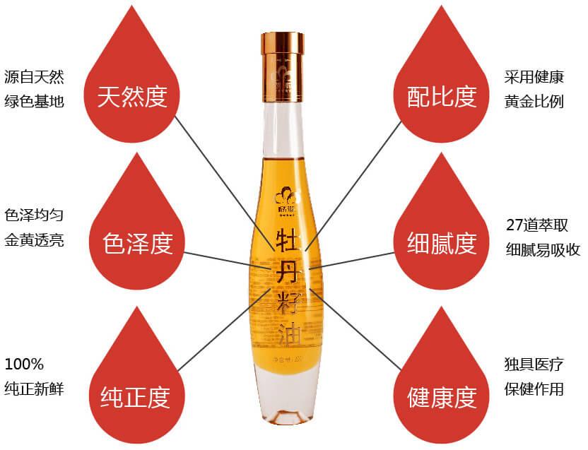 麟源牡丹籽油独有的高端标准三味六度
